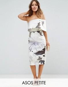 Платье миди на одно плечо ASOS PETITE - Мульти