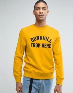 Свитшот с принтом Downhill HUF - Желтый