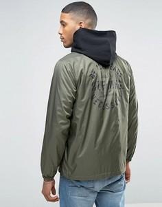 Спортивная куртка с принтом на спине HUF - Зеленый