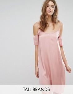 Платье-сорочка с вырезами на плечах Vero Moda Tall - Розовый