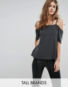 Топ с открытыми плечами Vero Moda Tall - Серый