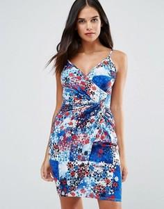 Облегающее платье с принтом Wal G - Мульти
