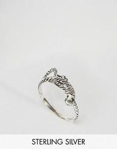 Серебряное кольцо с дизайном змеи ASOS - Серебряный