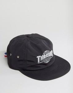 Нейлоновая бейсболка со светоотражающим логотипом HUF x Thrasher - Черный