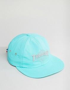 Нейлоновая бейсболка со светоотражающим логотипом HUF x Thrasher - Зеленый