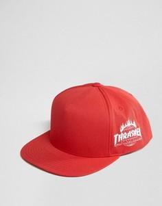 Бейсболка с вышивкой сбоку HUF x Thrasher - Красный