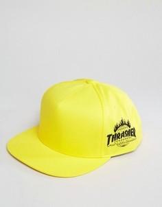 Бейсболка с вышивкой сбоку HUF x Thrasher - Желтый