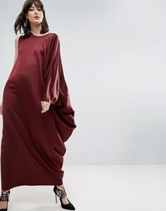 Платье макси с драпировкой сбоку ASOS WHITE - Красный
