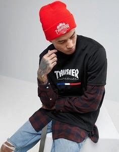 Шапка-бини HUF x Thrasher - Красный