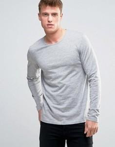 Серый меланжевый лонгслив Esprit - Серый