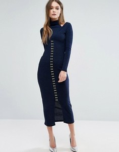 Платье миди в рубчик Lavish Alice - Темно-синий
