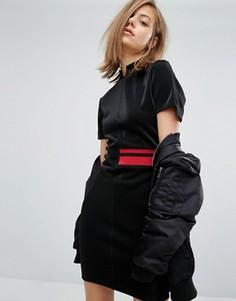 Платье с высокой горловиной и полосой сбоку Cheap Monday - Черный