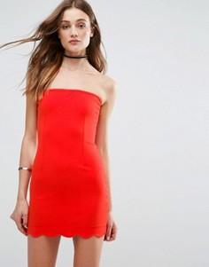 Облегающее платье без бретелек Glamorous - Красный