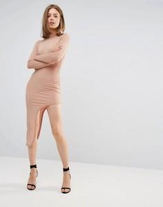 Асимметричное платье Glamorous - Розовый