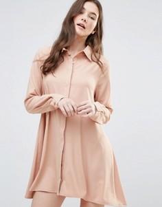 Платье-рубашка Glamorous - Серый