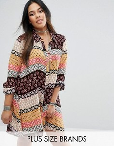 Свободное платье-рубашка с принтом Alice & You - Мульти