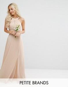 Плиссированное платье макси TFNC Petite Wedding - Розовый