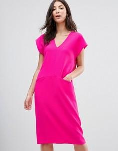 Цельнокройное платье миди Traffic People - Розовый