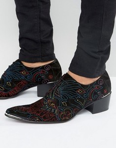 Замшевые туфли дерби с вышивкой Jeffery West Sylvian - Черный
