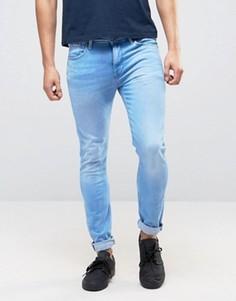 Выбеленные джинсы скинни Pepe Nickle - Синий