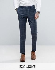Зауженные брюки в клетку Heart & Dagger - Темно-синий
