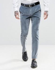 Суперузкие бархатные брюки Noose & Monkey - Синий