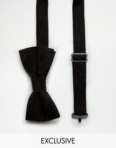 Бархатный галстук-бабочка Reclaimed Vintage - Черный