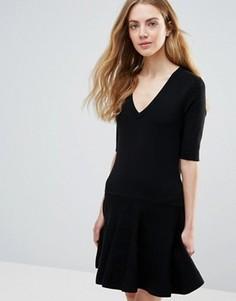 Черное классическое платье мини Ganni Williams - Черный