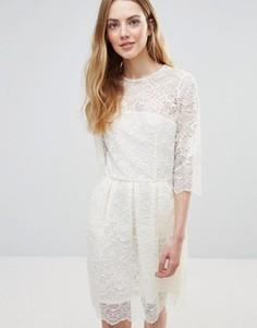 Кружевное платье мини Ganni Parker - Белый