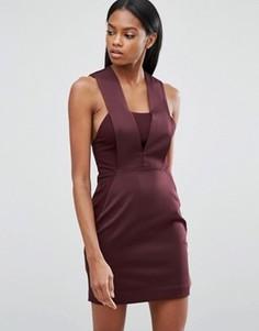 Облегающее платье мини AQ/AQ - Фиолетовый