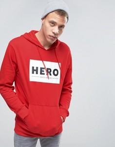Худи с логотипом Heros Heroine - Красный