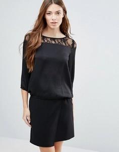Блузка с кружевной вставкой Blend She Ditto - Черный