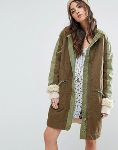 Парка Free People Tallis - Зеленый