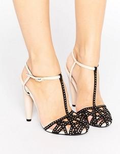Туфли на каблуке с ремешком на щиколотке Little Mistress - Черный