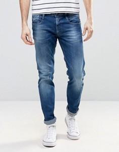 Синие джинсы слим Replay Anbass - Синий