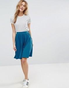 Расклешенная трикотажная юбка миди ASOS - Синий