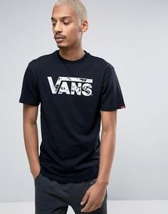 Черная футболка Vans V002OGKP1 - Черный