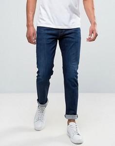 Выбеленные узкие джинсы Armani Jeans - Синий