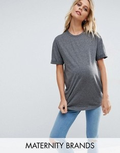 Oversize-футболка New Look Maternity - Серый