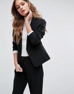Приталенный блейзер New Look - Черный