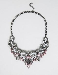 Броское ожерелье Pieces Fazzy - Серебряный