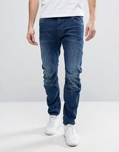 Узкие выбеленные джинсы G-Star BeRAW Arc 3D - Синий