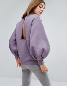 Свитер с пышными рукавами ASOS WHITE - Фиолетовый