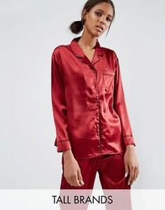 Комбинируемая блузка в пижамном стиле Daisy Street Tall - Красный