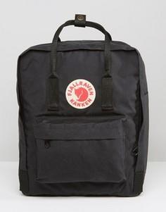 Черный рюкзак Fjallraven Kanken 16L - Черный