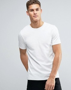 Премиальная футболка в рубчик Jack & Jones - Белый