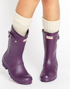 Короткие резиновые сапоги Hunter Original - Фиолетовый