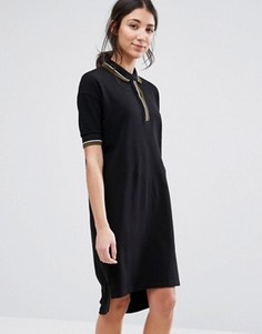 Свободное платье-поло Native Youth - Черный