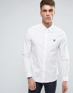 Белая эластичная рубашка на пуговицах с логотипом-орлом Lyle & Scott - Белый