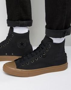 Черные высокие кеды Converse Chuck Taylor All Star II 155496C - Черный